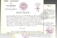 Décret de Victor Blanchart en faveur de Harvey Spencer Lewis