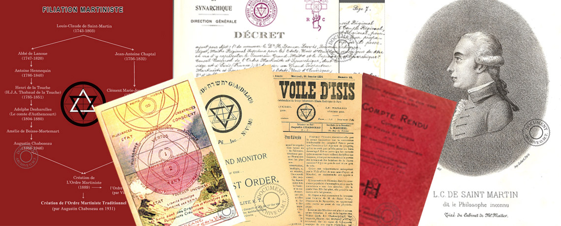 Archives, documents martinistes