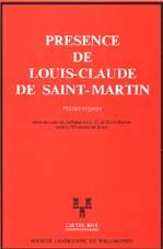 Présence de Louis Claude de St Martin